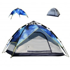 RioRand 3 In 1 Automatic Outdoor Tent 2-3 Person Model Tent for Camping Hiking(Fiberglass poles Camouflage)