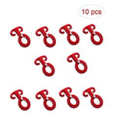 RioRand 10 Pcs Outdoor Red Aluminum Alloy Guyline Adjuster Cord Tent Adjustment Rope Buckles Durable