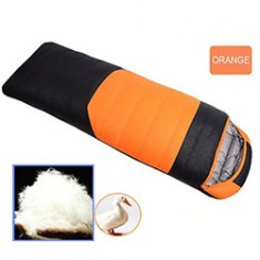 RioRand Duck Down Sleeping Bags Outdoor Camping & Hiking Ultralight Splicing Sleeping Bag for Adults Duck down Content 1.0kg(Orange &-5℃ to 8 ℃ /23 ℉ to 46.4℉)