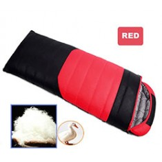 RioRand Duck Down Sleeping Bags Outdoor Camping & Hiking Ultralight Splicing Sleeping Bag for Adults Duck down Content 1.5kg(Red &-15℃ to 5 ℃ /5 ℉ to 41℉)