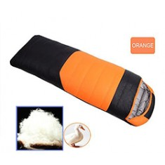 RioRand Duck Down Sleeping Bags Outdoor Camping & Hiking Ultralight Splicing Sleeping Bag for Adults Duck down Content 1.5kg(Orange & -15℃ to 5 ℃ /5 ℉ to 41℉)