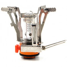 RioRand Mini Backpacking Canister Stove Burner Camp Camping Outdoor Cooking Foldable