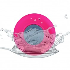 RioRand Pink Water Resistant Bluetooth Shower Speaker Speaker