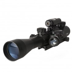 RioRand Rifle Scope for Hunting C3-9x40mm Red Dot Tactical Dual Illuminated + Red Dot Scope Instructions + Red Beam Sight