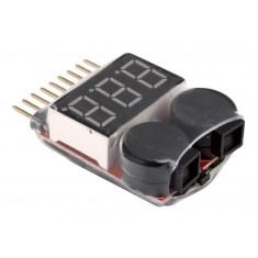 RioRand RC Hobby C23212 LiPo Voltage Checker + Warning Buzzer