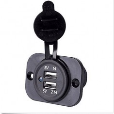 RioRand® 12V Waterproof Dual USB Car Power Adapter Charger Plug Socket Outlet Motorcycles