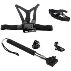 RioRand® Head Strap Mount+Chest Harness+Monopod Tripod Adapter for Gopro HD Hero 1 2 3 3+