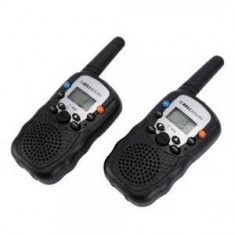 "RioRand® Pair of T-388 Mini Handheld 1"" LCD Screen 1Km Distance Auto Channel Walkie Talkie"