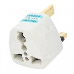 RioRand® Universal UK Travel AC Power Adapter Plug 3PCS (Black/Grey)