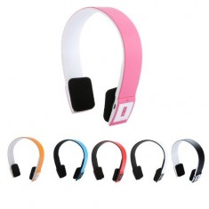 RioRand® 2.4G Wireless Bluetooth V3.0 + EDR Headset Headphone with Mic Bluetooth Stereo Headset with Microphone-in for Iphone 4/4s /Ipad 2 3 /Ps3 - connect two Bluetooth equipments at the same time (Pink)