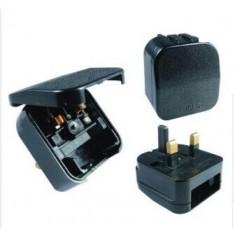 RioRand® BS-5733 Universal Travel EU Plug to UK Plug Power Adapter 3PCS- Black