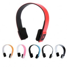 RioRand® 2.4G Wireless Bluetooth V3.0 + EDR Headset Headphone with Mic Bluetooth Stereo Headset with Microphone-in for Iphone 4/4s /Ipad 2 3 /Ps3 - connect two Bluetooth equipments at the same time (Red)