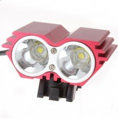 RioRand 1500 Lumen 2x CREE XML U2 LED Cycling Bicycle Bike Light Lamp HeadLight Headlamp-Red