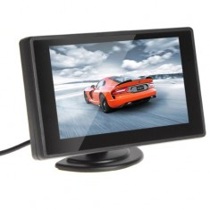 4.3'' Color TFT Car Monitor Support 480 x 272 Resolution + Car/Automobile Rear-view System Mirror Display Monitor