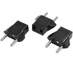 RioRand® CM-1 US Socket to EU Plug AC Power Adapter Plugs - Black (3 PCS / 2.5~250V)