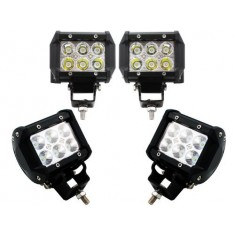 "RioRand® 4"" 18W 6 CREE LED SUV Off-road Boat Headlight Spot Driving Fog Light + Mounting Bracket(4pcs 4"" 18W)"