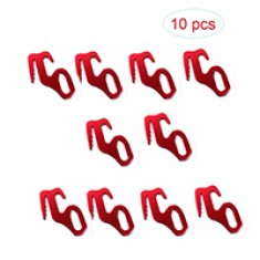 RioRand 10 Pcs Outdoor Red Color Aluminum Alloy Guyline Adjuster Cord Tent Adjustment Rope Buckles Durable