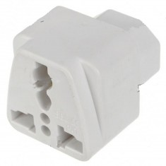 RioRand® Universal Computer IEC320 Travel AC Power Plug Adapter 3PCS