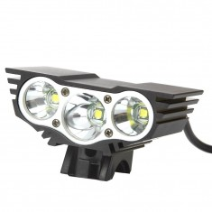 RioRand Bike Light 1800 Lumen 3x CREE LED Cycling Lamp HeadLight