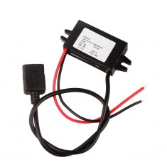 RioRand DC/DC 8-35V 12V/24V to 5V 3A Step-down Buck Power Supply Converter USB Car Mobile Charger Module