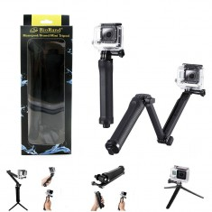 RioRand Generic Three-way Monopod Stand Mini Tripod Extension Arm for Gopro Hero 1 2 3 3+ 4 Camera
