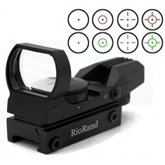 RioRand Tactical 4 Reticle Red Dot Open Reflex Sight With Weaver-Picatinny Rail Mount For 22 Mm Rails