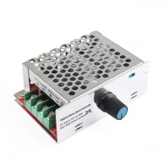 RioRand® PWM DC Stepper Motor Speed Controller Pulse Width Modulation Stepless Control Module DC 9-60V 600W Switch Dimmer Governor( DC 9-60V 20A with Shell)