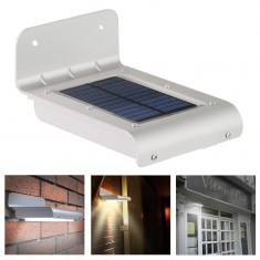 RioRand® 16 LED Super Bright Waterproof Solar Powered Light Motion Sensor Outdoor Garden Patio Path Wall Mount Gutter Fence Security Lamp Light