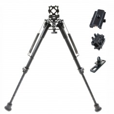 RioRand 3-in-1useful 9''-13'' Pivot Bipod with 3 Different Adapters Base for Ar-15