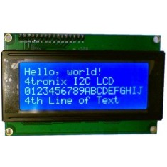 RioRand™ LCD Module for Arduino 20 x 4, White on Blue