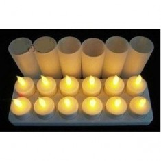 RioRand™ LED Rechargeable Candle Kit, 12-Pack