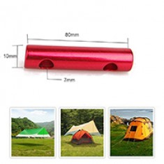 RioRand 10 Pcs Outdoor Aluminum Alloy Guyline Adjuster Cord Tent Adjustment Rope Buckles Durable Medium ( Red -J)
