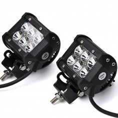"RioRand® 4"" 18W 6 CREE LED SUV Off-road Boat Headlight Spot Driving Fog Light + Mounting Bracket(2pcs 4"" 18W)"