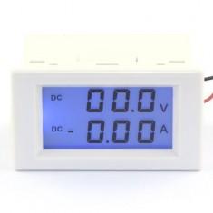 RioRand 0-199.9V/0-20.0A DC VA Voltmeter Ammeter Volt Ampere Panel Meter LCD Dual Display Current Monitor Voltage Measure