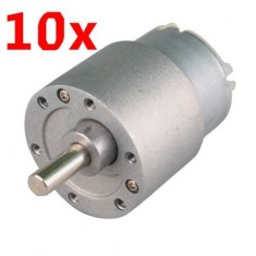 RioRand 10PCS 30RPM Mini Gear Box Electric Motor 12V DC 37MM High Torque
