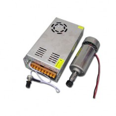 RioRand®300W DC 12V-48V Engraving Milling Spindle Motor & Speed Adjustable Power Supply