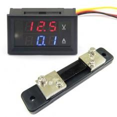 RioRand 4.5-30V 0-50A DC Digital Voltmeter/Ammeter Voltage Panel Meter+Current Shunt Resistor