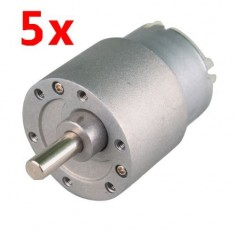 RioRand 5PCS 30RPM Mini Gear Box Electric Motor 12V DC 37MM High Torque