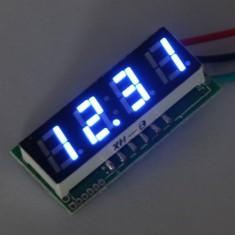 """RioRand Blue Small 0.28"""" Digital Voltage Gauge 12V Panel Volt Meter Car Voltmeter LED Blue DC 0-200V 24V"""
