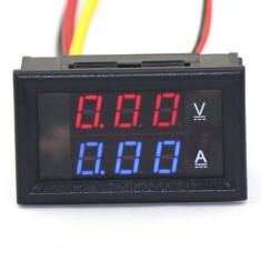 RioRand DC Volt Amp Meter 2in1 Digital Amperemeter Voltmeter LED Tester Blue Red 0-100V/10A Car Battery Monitor