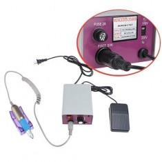 RioRand Professional Electric Nail Art Salon Drill Glazing Machine Manicure Pedicure Kit Pink