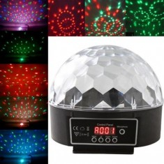 RioRand™ DMX512 6 LED Disco DJ Stage Lighting LED RGB Crystal Magic Ball Effect Light DMX light KTV Party (US plug)