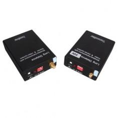 RioRand Wireless 3W Audio Video AV 2.4GHz Transmitter Sender Receiver CCTV with 4 Channels