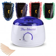 RioRand Hair Wax Warmer Electric for Women with 4 bags of Hard Wax Beans and 10 pcs of Sticks (UK)