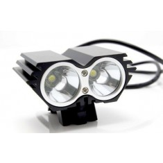 RioRand 1500 Lumen 2x CREE XML U2 LED Cycling Bicycle Bike Light Lamp HeadLight Headlamp black