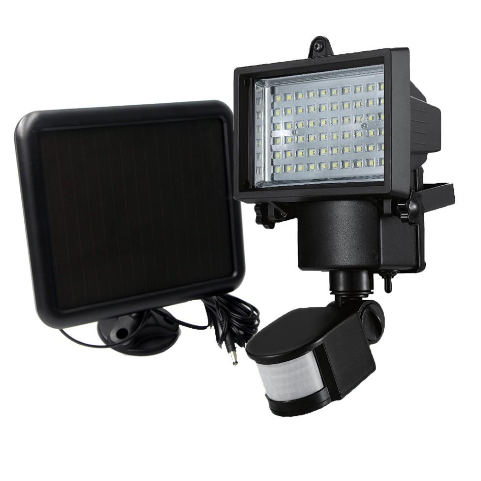 Riorand 60 led solar motion light flood lights security lighting zoom aloadofball Gallery