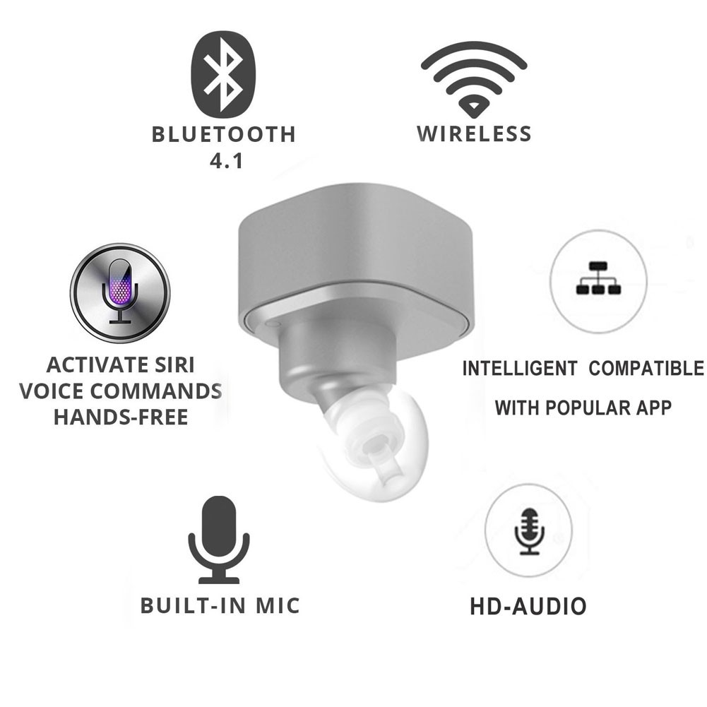 Super Mini True Wireless Stereo Bluetooth Headset With Mic Smallest Circuit Diagram Lightbox Moreview