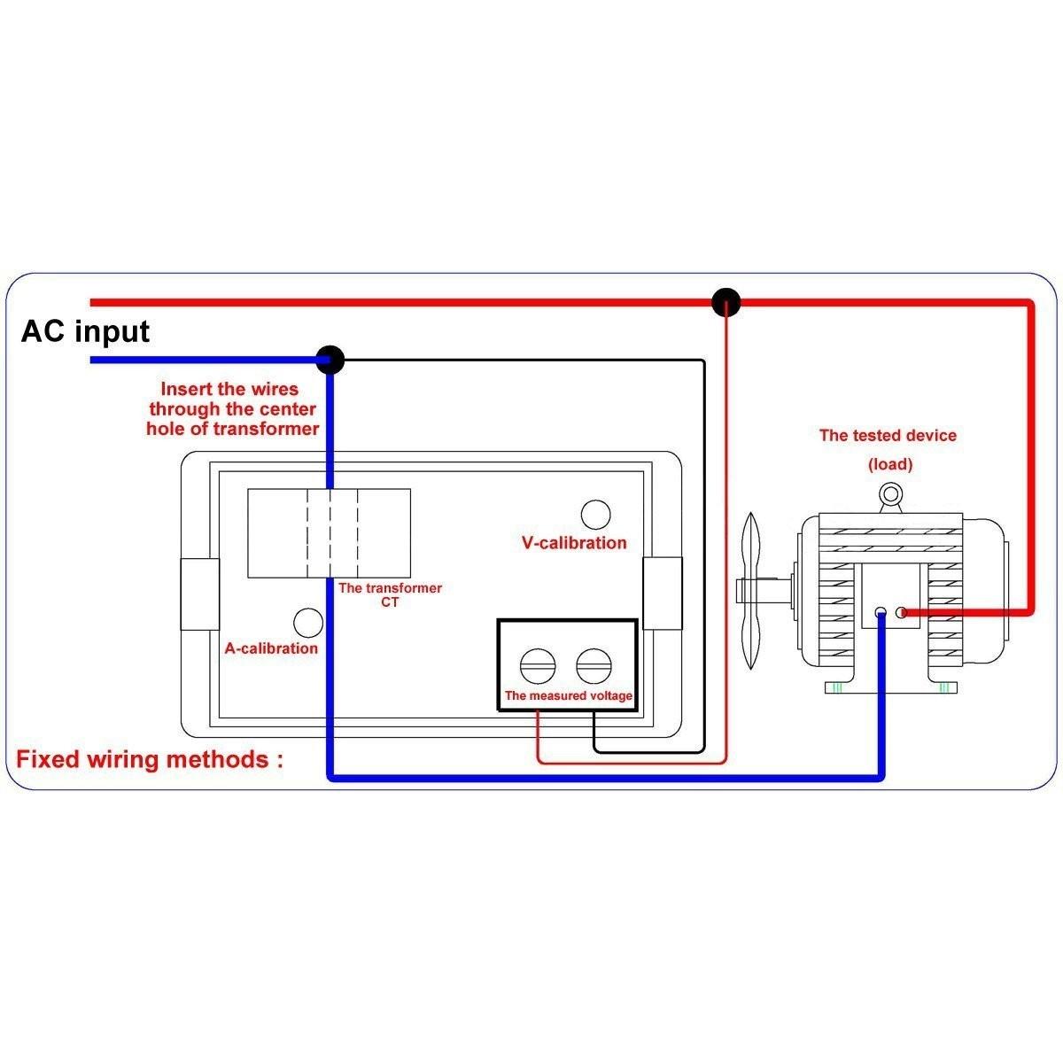 Riorand Digital Lcd Display Voltmeter Amperemeter Ac 110v 220v 100 Ammeter Panel Amp Volt Meter 100a 100v Lightbox Moreview
