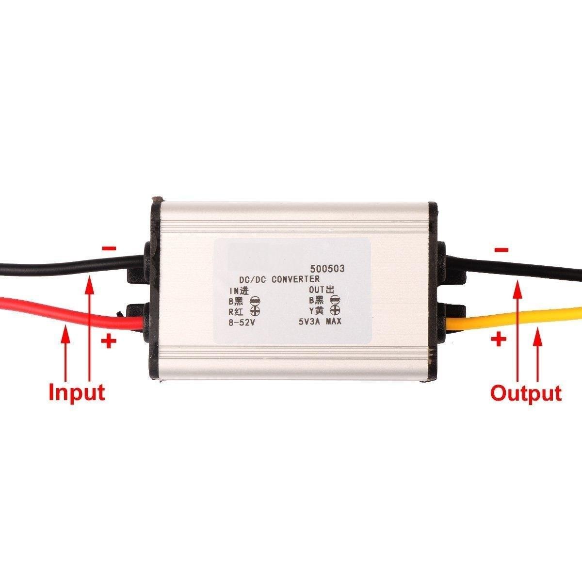 Riorand Dc To Volt Converter Module 8 52v 12v 24v 5v 3a Buck Circuit Lightbox Moreview