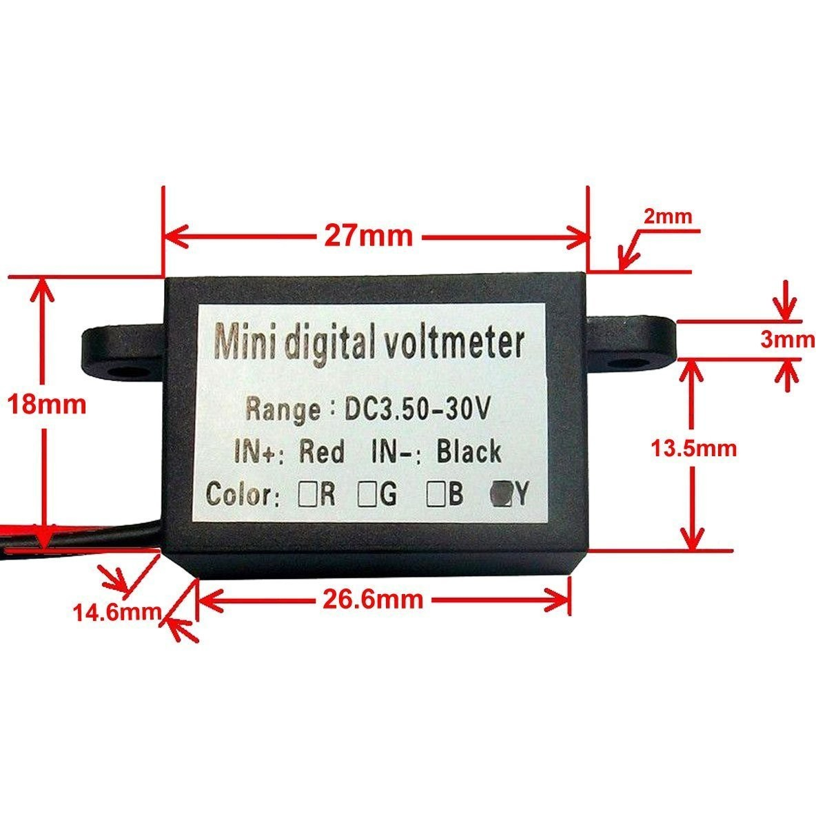 auto riorand® waterproof digital car/motorcycle voltage tester panel  volt on automotive voltmeter wiring diagram simple